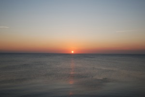 Sunset from Chesil Beach